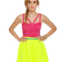 Sexy Fuchsia Top - Bustier Top - Tank Top - Pink Top - &amp;#36;30.00