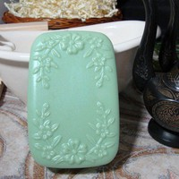 Soap Chanel No 5 Opalescent Green Flowers Large 4 Oz Bar | PinksPleasures - Bath &amp; Beauty on ArtFire