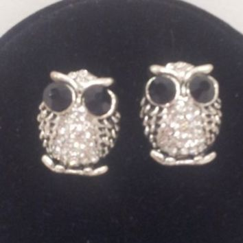 Owl Earrings- Silver