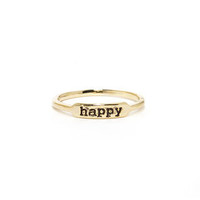 Happy Glam-per Gold Knuckle Ring