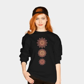 Tri-Mandala Ladies' Sweatshirt by Lyle1958 @ Design by Humans
