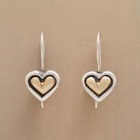 TWO TONE HEART EARRINGS        -                Earrings        -                Jewelry                    | Robert Redford's Sundance Catalog