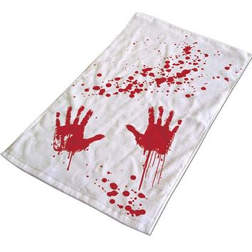 Blood Bath Hand Towel (White/Red)