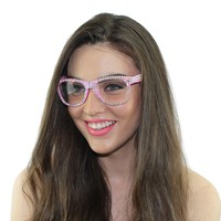 Swarovski Crystal Reader Glasses - Pink - Designed & Made in the USA