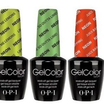 "OPI Gel Color Kit Summer 2014 ""The Neons"" 6 iconic OPI colors"