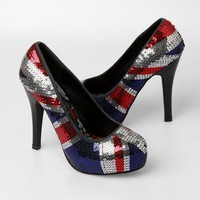 Iron Fist Jacked Up Platform Heels - British Flag - Punk.com