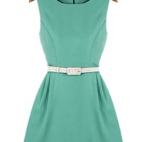 Textured Solid Mini Dress - OASAP.com