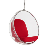 Hanging Orbit Chair in Red