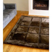 Bowron Sheepskin Sheepskin Contemporary Design Square Rug - MROS - Wool Rugs - Area Rugs by Material - Area Rugs