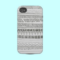 Black and White Aztec Tribal Print from Zazzle.com