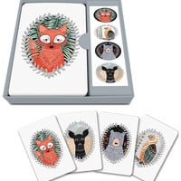 Woodland Creatures Notecard Set