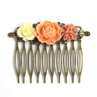 Flower Hair Comb Coral Delights | Luulla