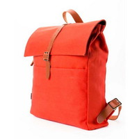 Stylish girls canvas buddy rucksacks with leather buckle from Vintage rugged canvas bags