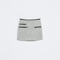 MINI SKIRT WITH ZIPS
