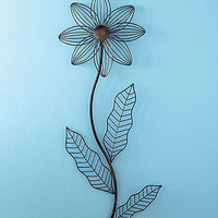 Metal Sunflower Flower Floral Wall Sculpture Hanging Wall Art Home Decor