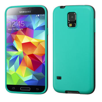 MYBAT Hybrid TWO-COLOR Candy Skin Case for Galaxy S5 - Green/Grey
