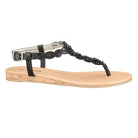 black ada braided sandal