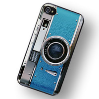 Retro Teal Camera IPhone Hard Case - Fits IPhone 4 And IPhone 4S | Luulla