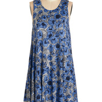 ModCloth Mid-length Sleeveless Tent The Swingingest Spots Dress in Floral