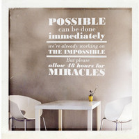 Possible/Impossible/Miracles