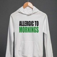 ALLERGIC TO MORNINGS - Underline Designs - Skreened T-shirts, Organic Shirts, Hoodies, Kids Tees, Baby One-Pieces and Tote Bags