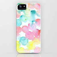 Abstract Watercolor Dots iPhone & iPod Case by Wildhumm | Society6