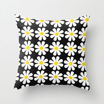 Daisy Throw Pillow by Sara Eshak