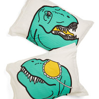 ModCloth Quirky Dino What You Did Last Slumber Pillow Sham Set