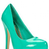 SEXY STILETTO HEEL FAUX PATENT LEATHER SLIP ON PUMP-Heels-prom heels,high heels shoes,leopard heels,hot pink heels,cheap heels,party shoes heels,sexy heels,Platform Heels,high heel pumps,Wedge Heels,Flat Heels