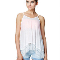 Lace Trim Swing Tank -
