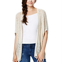Open Texture Chevron Cardigan -