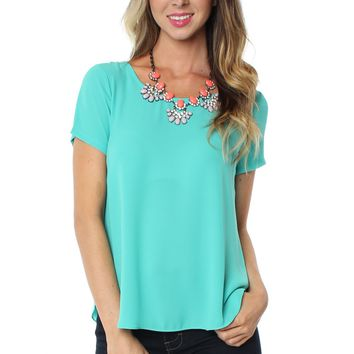 Short Sleeve Blouse Jade