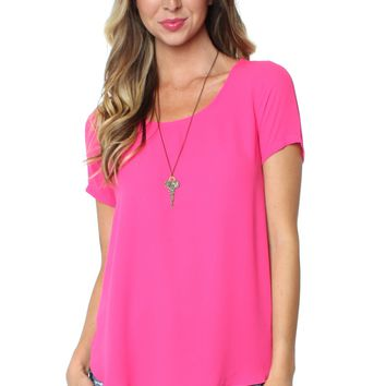 Short Sleeve Blouse Pink