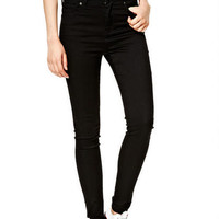 Logan Ultra High-Rise Jeggings in Black