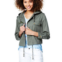 Crop Anorak - Green