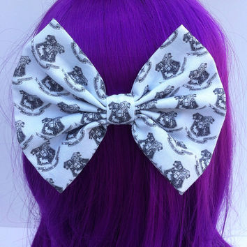 Harry Potter Inspired Hogwarts Crest Hair Bow Large