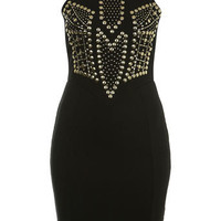 Black Studded Bodycon Dress - New In - Miss Selfridge