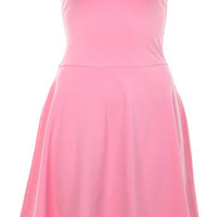 Pink Bandeau Skater Dress - Day Dresses - Dress Shop - Miss Selfridge