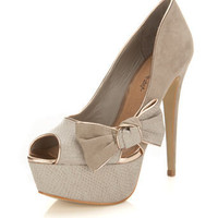 Sasha Grey Side Bow Heel - View All - New In - Miss Selfridge