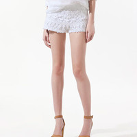 CROCHET SHORTS - Shorts - Woman - ZARA
