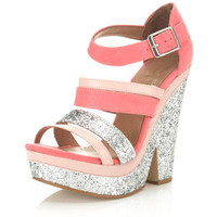 Clarence Coral Split Wedge - Shoes - Miss Selfridge