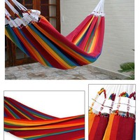 Cotton &#x27;Iracema Rainbow&#x27; Hammock (Brazil) | Overstock.com
