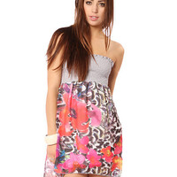 Papaya Clothing Online :: SMOCKED FLORAL TUBE DRESS