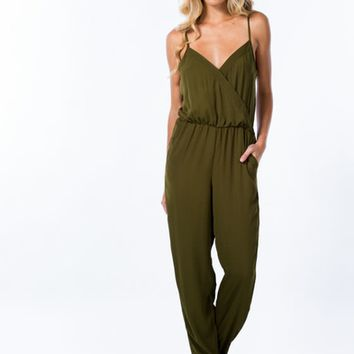 Overlapping Tank Jumpsuit
