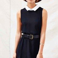 One & Only X Urban Renewal Collared Swing Dress- Black