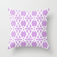 Mezzo - Orchid Throw Pillow by Lisa Argyropoulos | Society6
