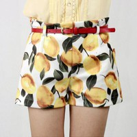 U.S. fruit taste thin shorts, belt | fashion4us