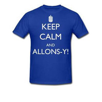 Keep Calm and Allonsy In Tardis Blue by Caffrin25 on Etsy