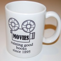 movies ruin good books coffee mug