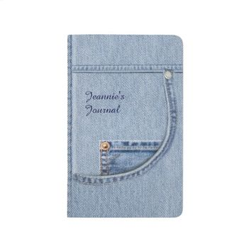 (Customizable) Denim Journal